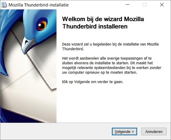 e-mailprogramma Thunderbird installeren