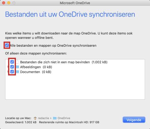 Bestanden uit OneDrive synchroniseren