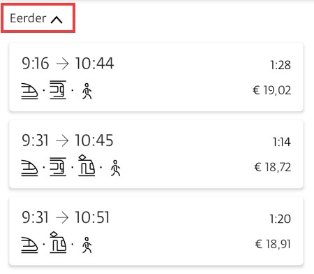 Reis plannen met openbaar vervoer in 9292