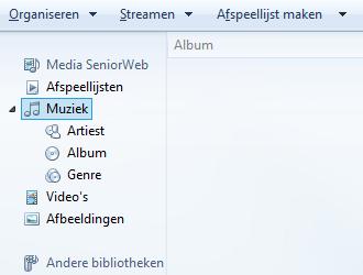 Windows Media Player bibliotheek