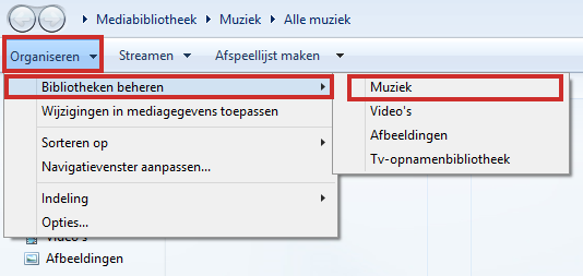 Windows Media Player muziek toevoegen