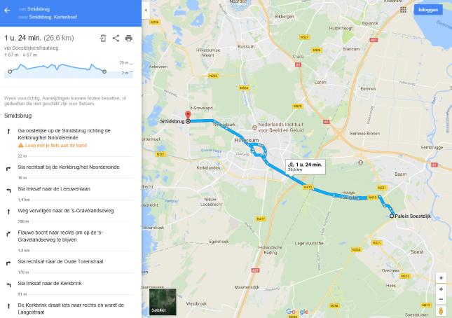 Beschrijving van de route