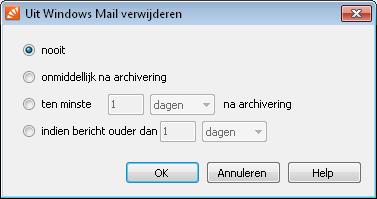 Mails automatisch verwijderen na archiveren