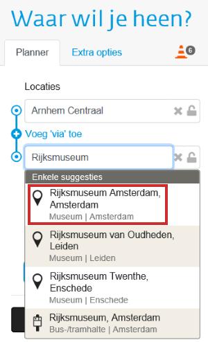 Reis plannen op 9292.nl