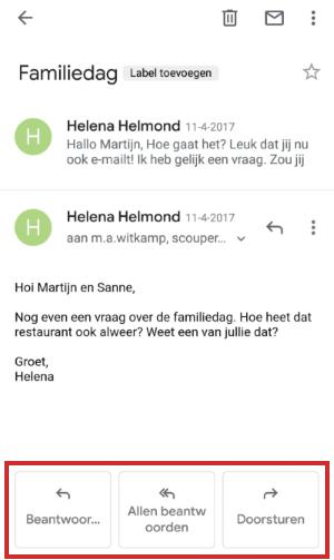 Een e-mail beantwoorden
