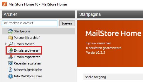 MailStore e-mail archiveren instellen