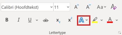 Teksteffecten en typografie in Word
