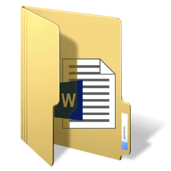 document in word opslaan