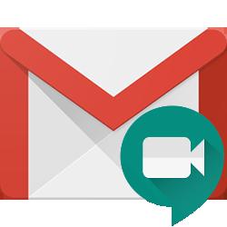 Tabblad Google Meet in Gmail-app