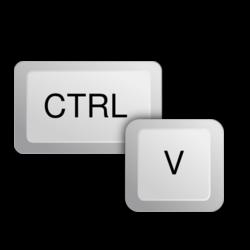 Ctrl+V, Plakken