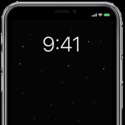 iPhone, altijd aan