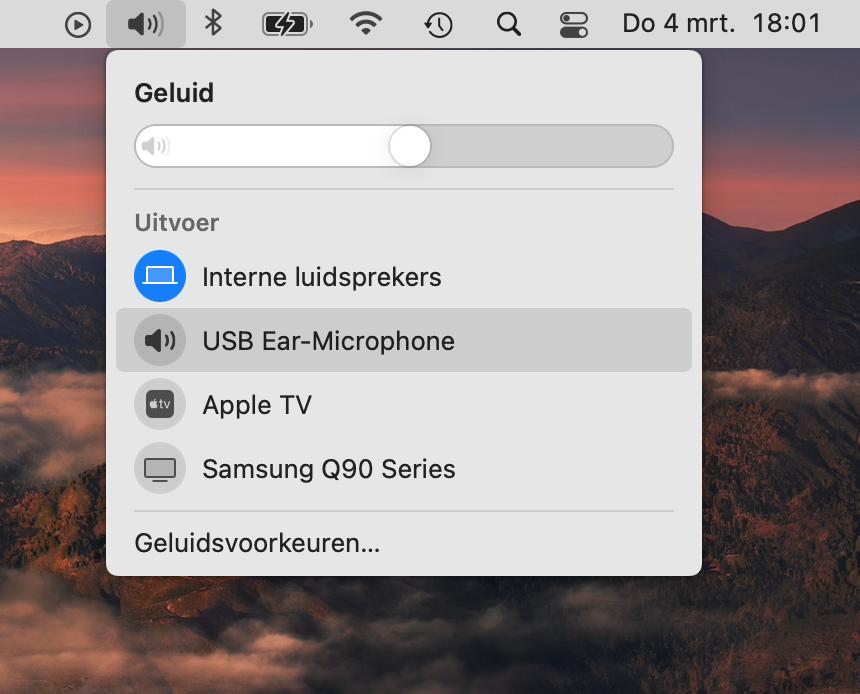 Geluid aanpassen macOS
