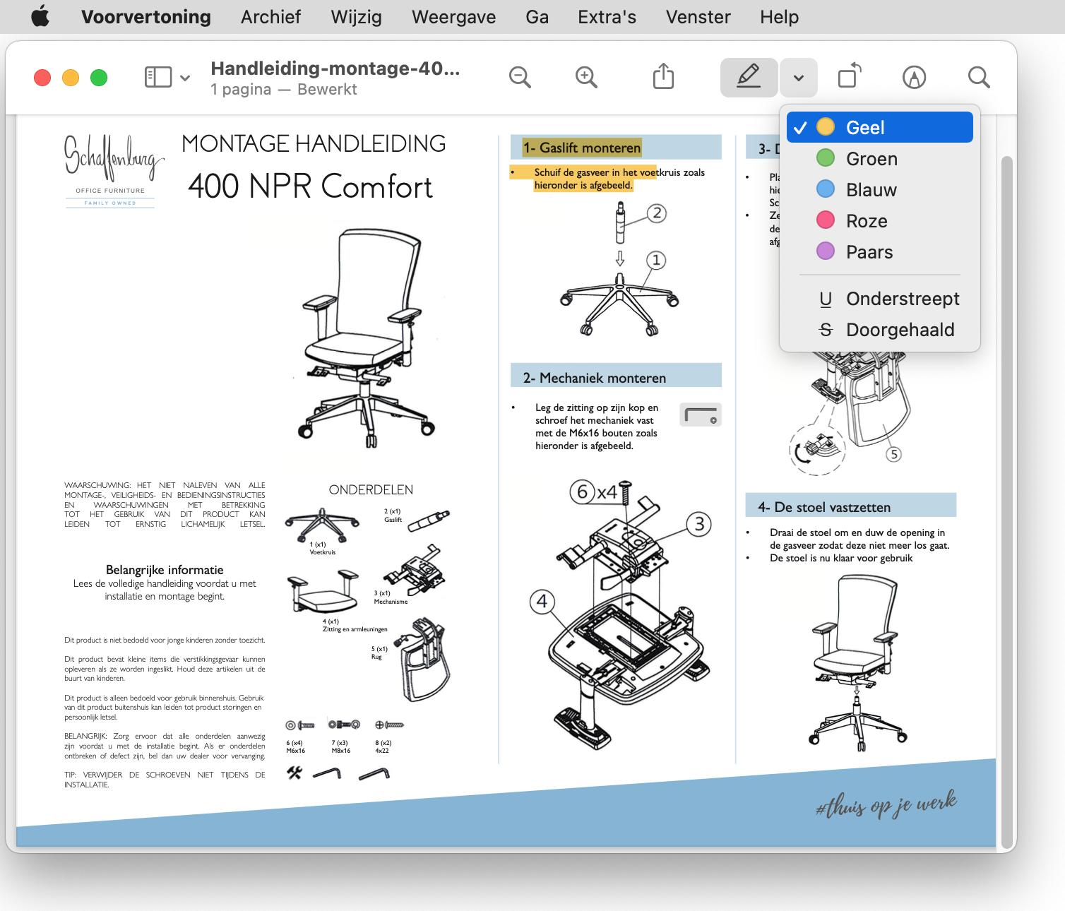 Pdf'jes markeren in Voorvertoning op Mac