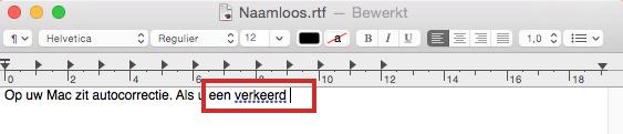 Autocorrectie op Mac