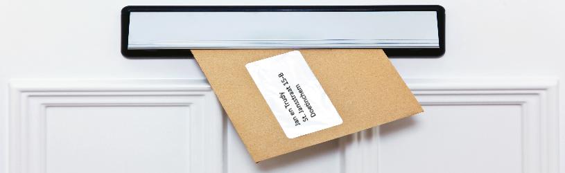Druk een adreslabel af vanuit Contacten