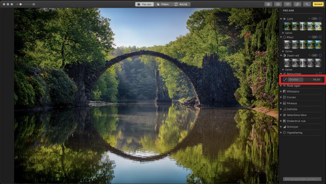 Foto retoucheren in app Foto's