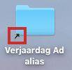 Afbeelding van een snelkoppeling op de Mac