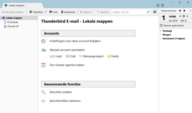 e-mails sturen en ontvangen met Thunderbird
