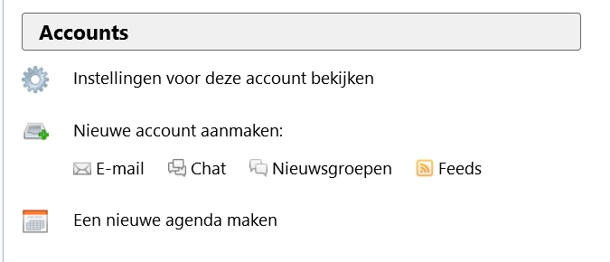 Outlook- of Gmail-adres gebruiken in Thunderbird
