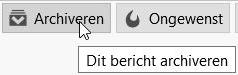 Het scherm met de knop 'Archiveren'
