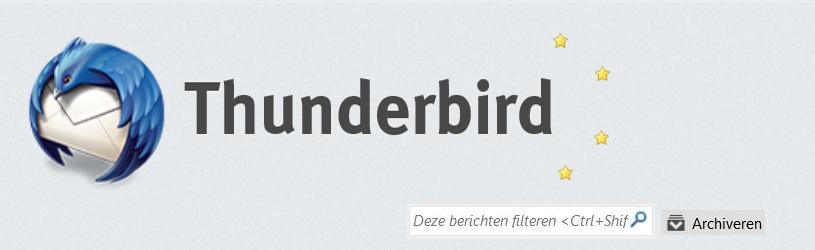 Verder met Thunderbird