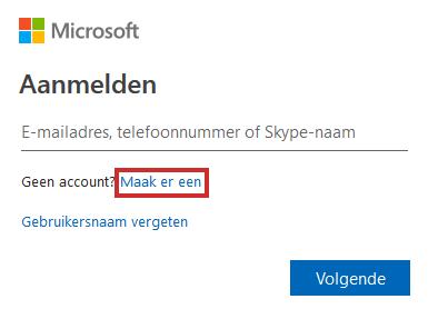 Een Microsoft-account aanmaken