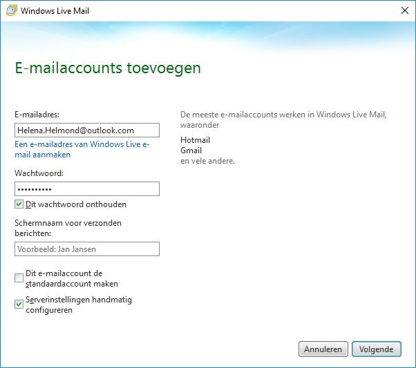 WLM-account toevoegen