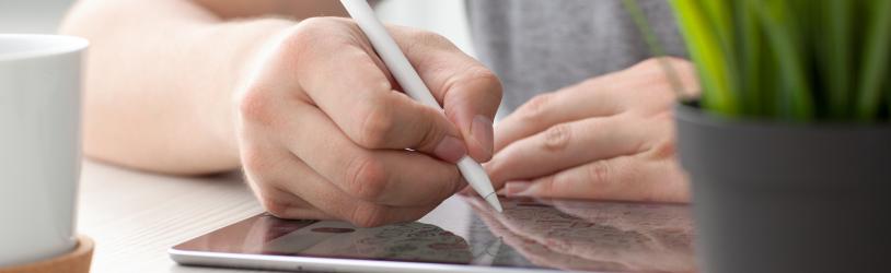 Tekenen en schrijven op een foto