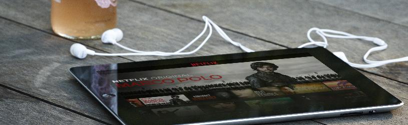 Netflix kijken op de tablet