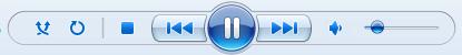 Windows Media Player, de knoppen