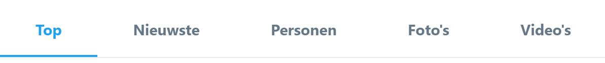 Zoekresultaten Twitter