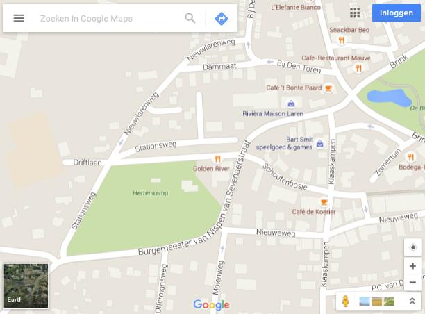 Het overzicht van Google Maps