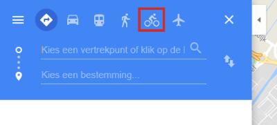 Routebeschrijving voor fietsers