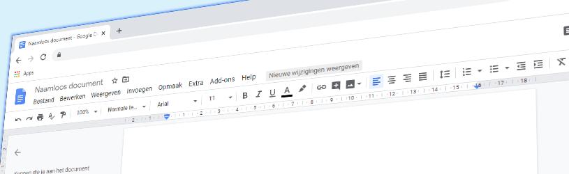 Tekstverwerken met Google Documenten