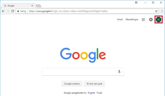 Uitloggen Google-account