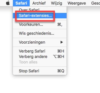 Safari-extensies installeren