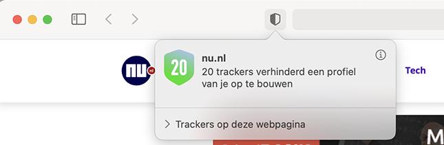 Trackers van een website bekijken