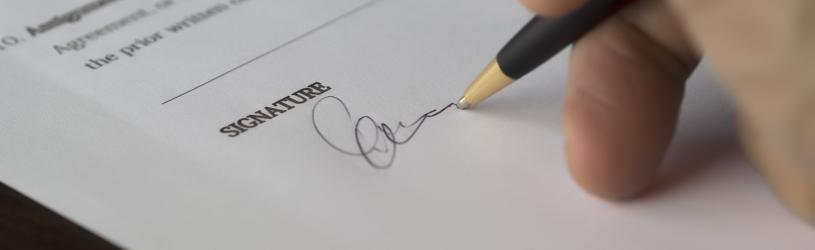 Digitale handtekening zetten