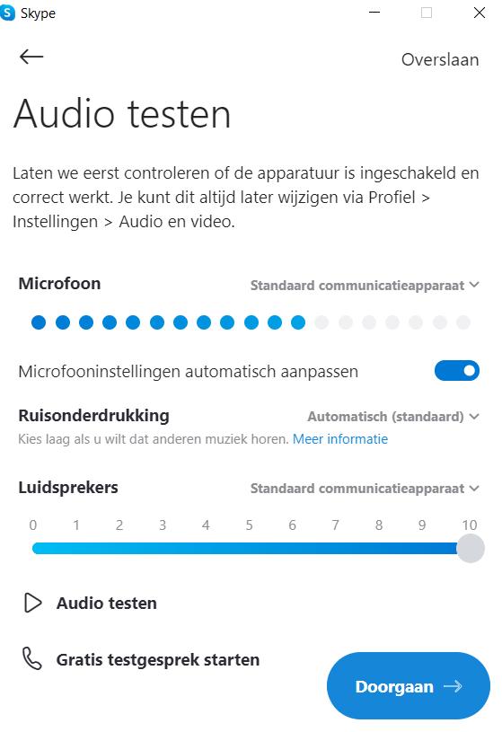 Skype-audio-testen