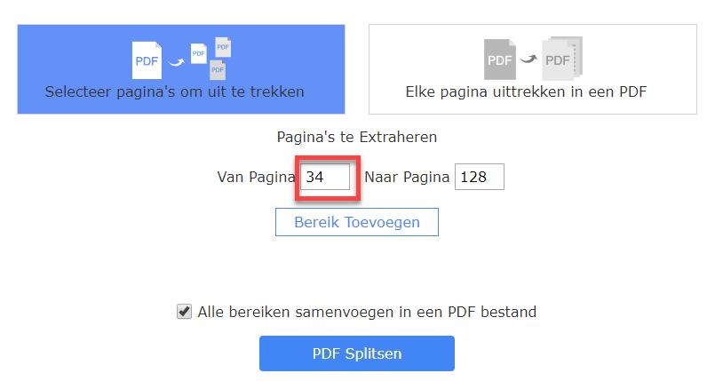 Pdf-bestand online splitsen