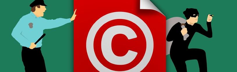 Politieman betrapt dief die copyright steelt