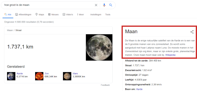 Wikipedia via Google