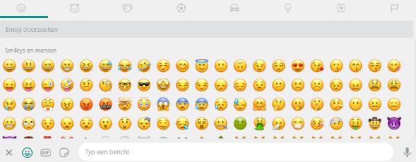Smileys gebruiken in WhatsApp