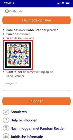 Een account aanmaken op de Rabo Bankieren app