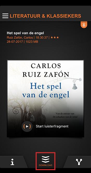 Boek downloaden in LuisterBieb