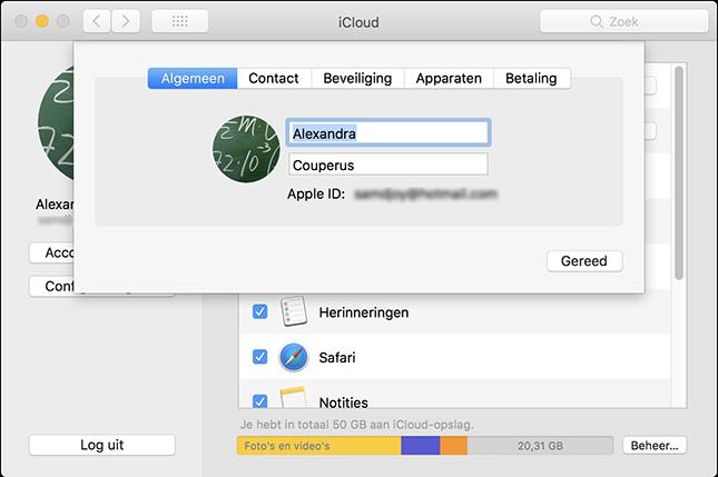 Apple ID beheren op Mac