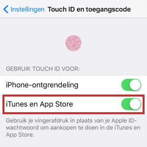 Touch ID instellen