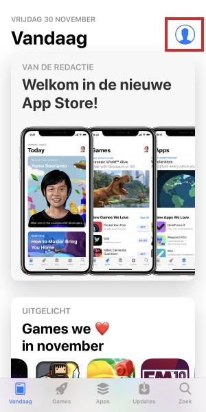 Inwisselen cadeaubon in App Store op iPhone