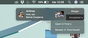 Bestanden ontvangen via AirDrop op Mac