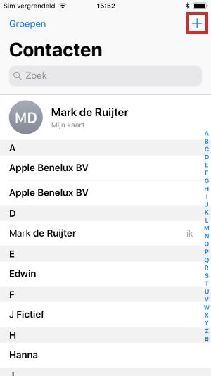 Contactpersoon toevoegen op iPhone en iPad